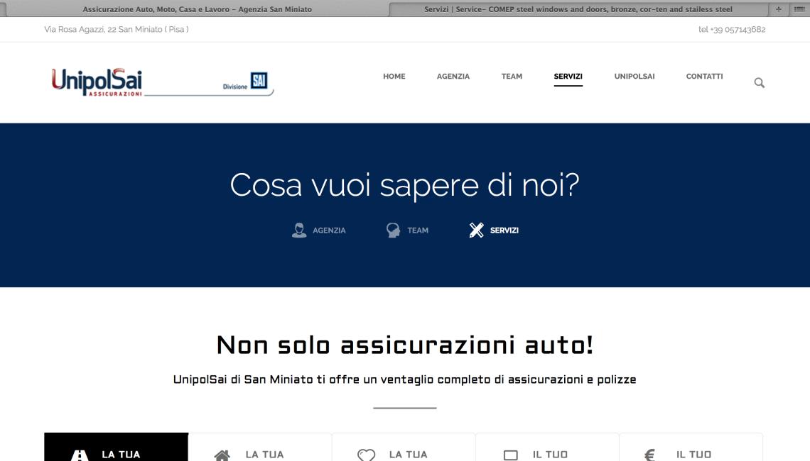 Sito Web UnipolSai – Pagina About